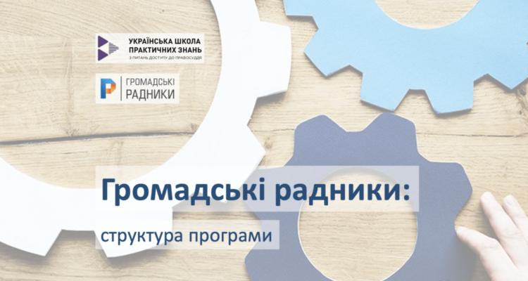 Структура навчальної програми громадських радників